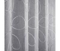 Лен вышивка высота 280 см L5929-2 белый/стальной (30 м±)