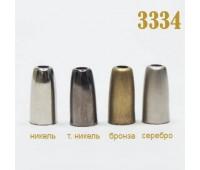 Концевик пластик 3334 бронза (100 шт)