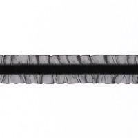 Оборка на бархатной резинке 2-сторонняя 03-A3TF черный (45,72 м)