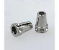 Концевик металлический 1648 никель (100 шт)