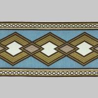 Бордюр для штор K1203-3 голубой/коричневый/белый ±12 см (25 м)