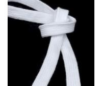 Шнур 2 белый 14 мм плоский вязанный (45,72 м)