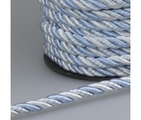 Шнур витой SH006 белый/голубой (50 м)