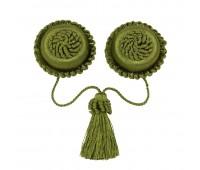 Клипса-магнит брошь ST01-1 зеленый (уп. 6 шт)