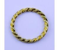 Кольцо плетенное 4339 золото 48/62 мм