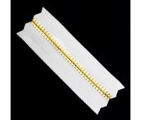 Молния рулонная металлическая Т4 желтое золото на белом (100 ярд.)