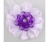 Клипса-магнит цветок-органза SM-H9-005 сирень (2 шт)