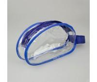 Упаковка с молнией для швейной фурнитуры W057-2064 синий/прозрачный