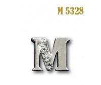 Буква объемная со стразами металлическая M 5328