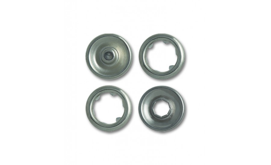 Кнопки клямерные A333 никель 11 мм (200 шт)