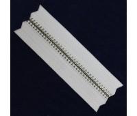 Молния рулонная металлическая Т4 никель на белом (200 ярд.)