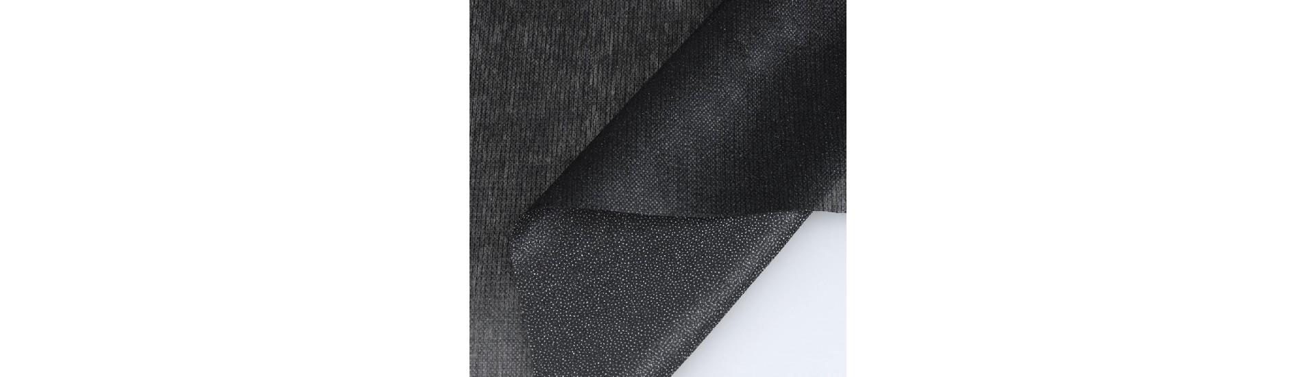 Флизелин нитепрошивной клеевой 9523W (40 г/кв. м) черный 90 см/100 м