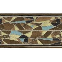 Бордюр для штор K1202-4 коричневый/синий/белый (12 см/25 м)