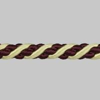 Шнур витой SH20-5 бордо/золото (искусственный шёлк) (25 м)