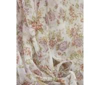 Вуаль печать - ткань для штор, прованс розовый, высота 280 см (30 м± ) 1HYHD8797-01