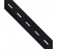 Перфорированная резинка 99017-25 черный (44 м)