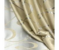Ткань для штор блэкаут софт 2-х сторонний с рисунком WZGA3009-125 бежевый/стальной (25 м±)