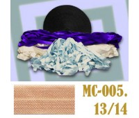 Эластичная отделочная лента 13/14 (6) MC-005 персиковая (50 ярд)