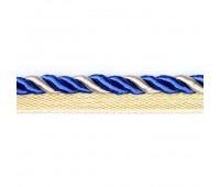 Кант шторный SHK008 синий/золото (50 м)