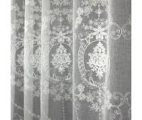 Лен вышивка высота 280 см 601 белый (30 м±)