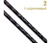 """2 т.-корич. Шнур к/з """"Рептилия"""" прош. 0,3см(34ярд)"""