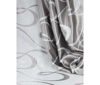 Ткань для штор блэкаут софт 2-х сторонний с рисунком WZGA3009-01 светло-серый/стальной (25м± )