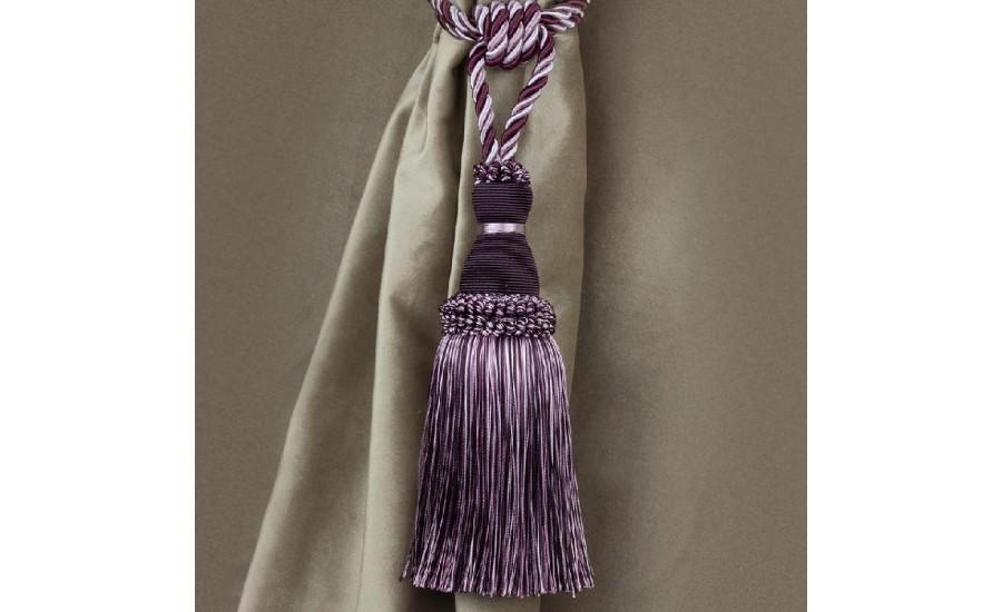 Кисть для штор 1221A-20 фиолетовый/сиреневый
