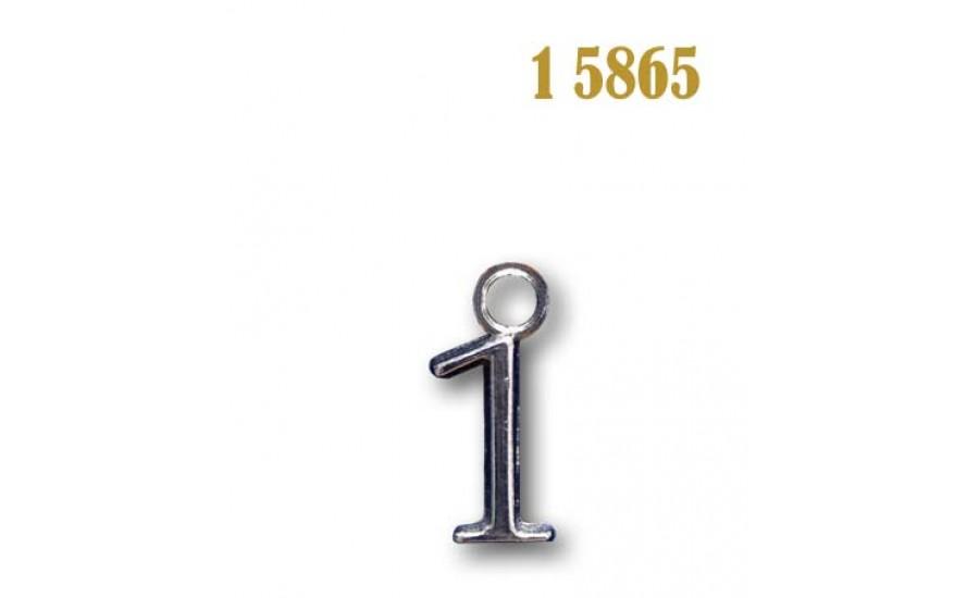 Цифра плоская металлическая 1 5865