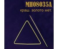 Заколка для штор Треугольник металлический MH08035A золото (4 шт)