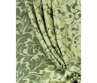 Ткань для штор блэкаут софт 2-х сторонний с рисунком WZGA1360-17 зеленый/темно-зеленый (25м± )