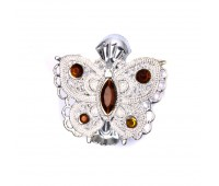 "Прищепка для штор ""бабочка"" HJ84353-2 серебро (2 шт)"