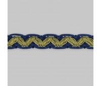 Сутаж отделочный M-1-8 синий/золото (12 м)