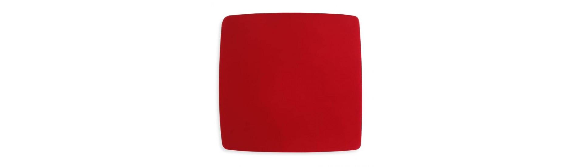 Магнит для штор на тросе Ф-5(Ф-К) Флок красный 14,5 см Квадрат