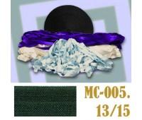 Эластичная отделочная лента 13/15 (1) MC-005 темно-зеленая (50 ярд)