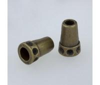 Концевик металлический 1648 бронза (100 шт)