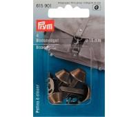 Ножки (гвоздики) 615901 Prym для дна сумки 15 мм цвета состаренной латуни 4 шт
