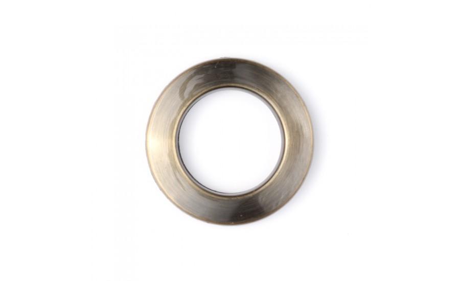 Люверсы шторные пластик 28-15 (28 мм) бронза (50 шт)