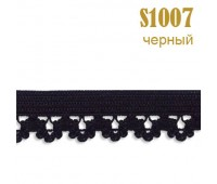 Резинка кружево 1007S черный (132 м)