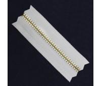 Молния рулонная металлическая Т4 русское золото на белом (100 ярд.)