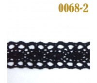 Кружево вязанное 0068-2 черный (50 ярд)