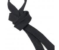 Шнур 1 черный 14 мм плоский вязянный (45,72 м)