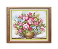 """Набор для изготовления картины - мозаика """"Букет большие розы"""", 1390, 52,5х44 см"""