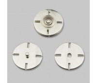 Кнопка пришивная декоративная нержавеющая металлическая HJ001 36L никель (24 шт)