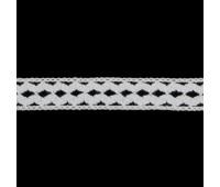 Кружево вязанное 0135 (QY0135) белый, 1.5 см, (91,44 м)