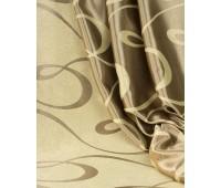 Ткань для штор блэкаут софт 2-х сторонний с рисунком WZGA3009-03 бежевый/золото (25 м± )