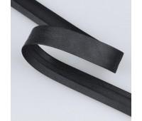 """Косая бейка """"MIRTEX"""" 20 мм черный (132 м)"""