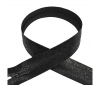 Молния водонепроницаемая 80 см черная пиксель (мозаика) Т7 спираль разъемная (10 шт)