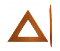 Заколка для штор дерево Треугольник HJ8158AB-F светло-коричневый (4 шт)