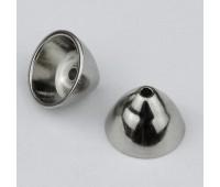 Кугель-концевик конус S38 никель внутренний диаметр 19-14 мм (100 шт)