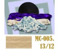 Эластичная отделочная лента 13/12 (7) MC-005 светло-бежевая (50 ярд)